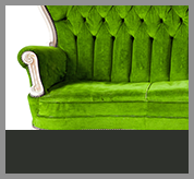 Single Green Couch Cleaned by PureGreen